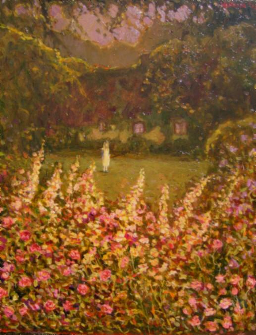 English oil landscape garden