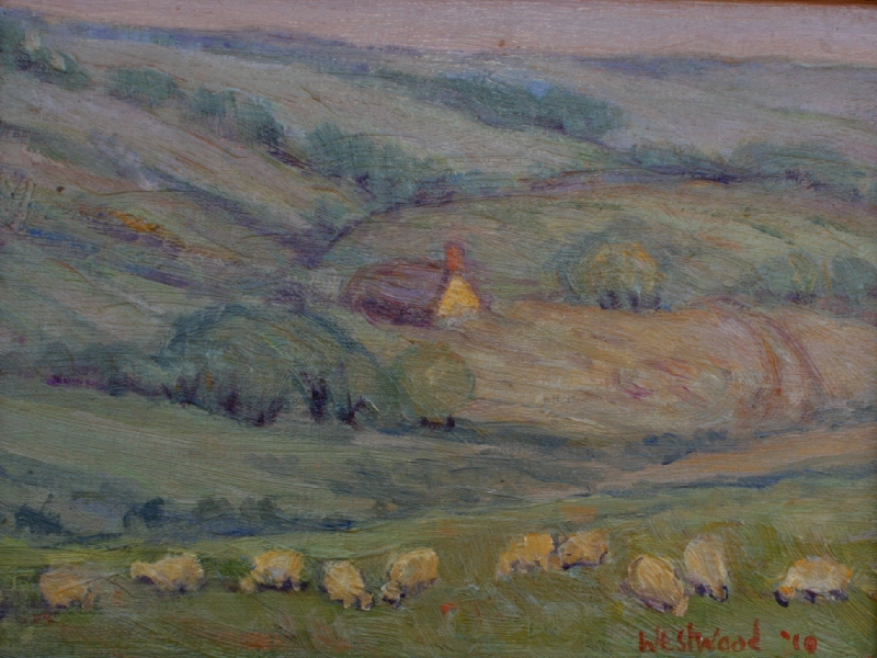English oil farm landscape