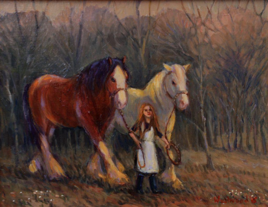 English oil horses farm