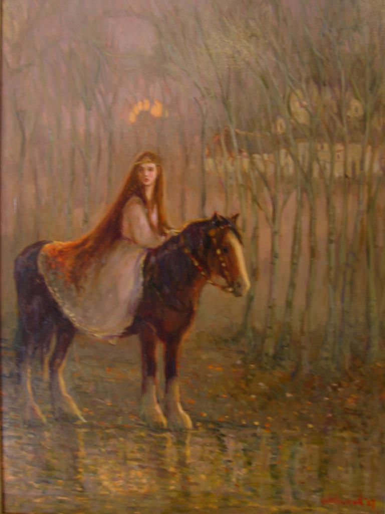 Giclee English horse figure Gaelic legend