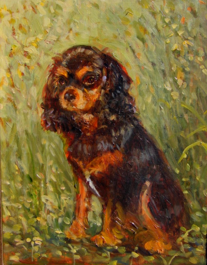 Portrait oil pet