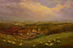 English landscape Giclee farm
