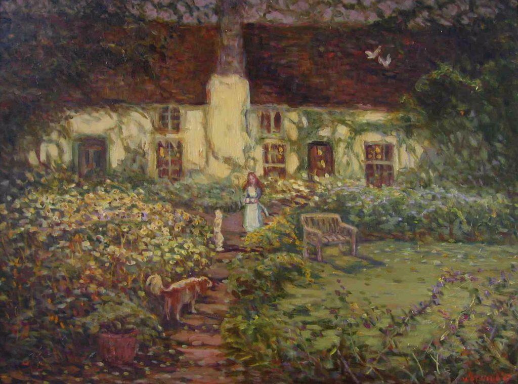 Giclee English garden