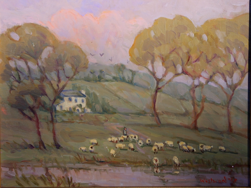 English landscape oil