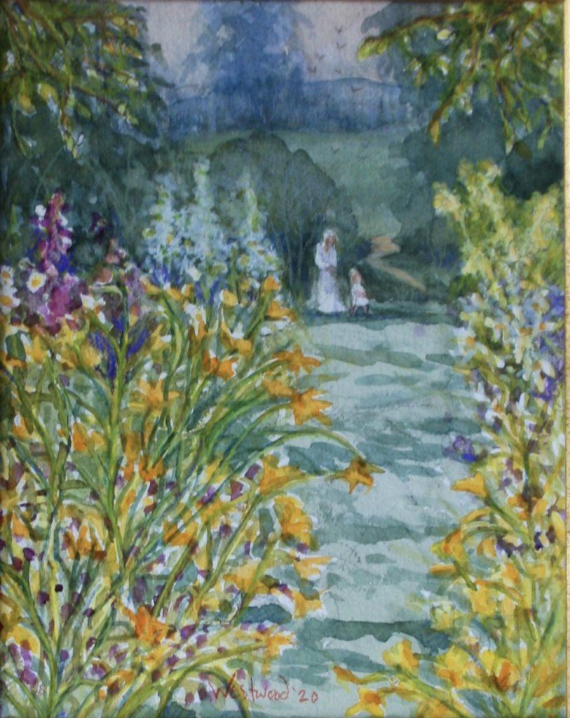 watercolor English Garden