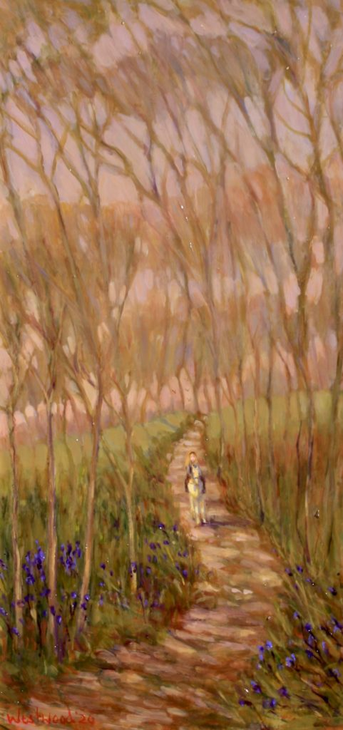 oil landscape English woods