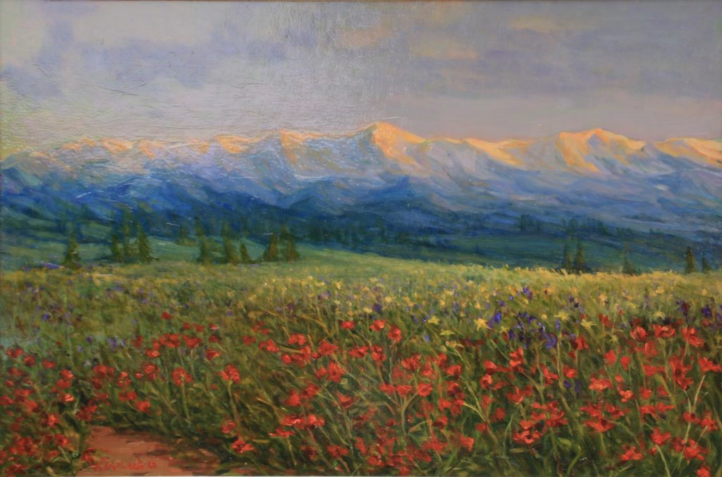 oil Colorado landscape