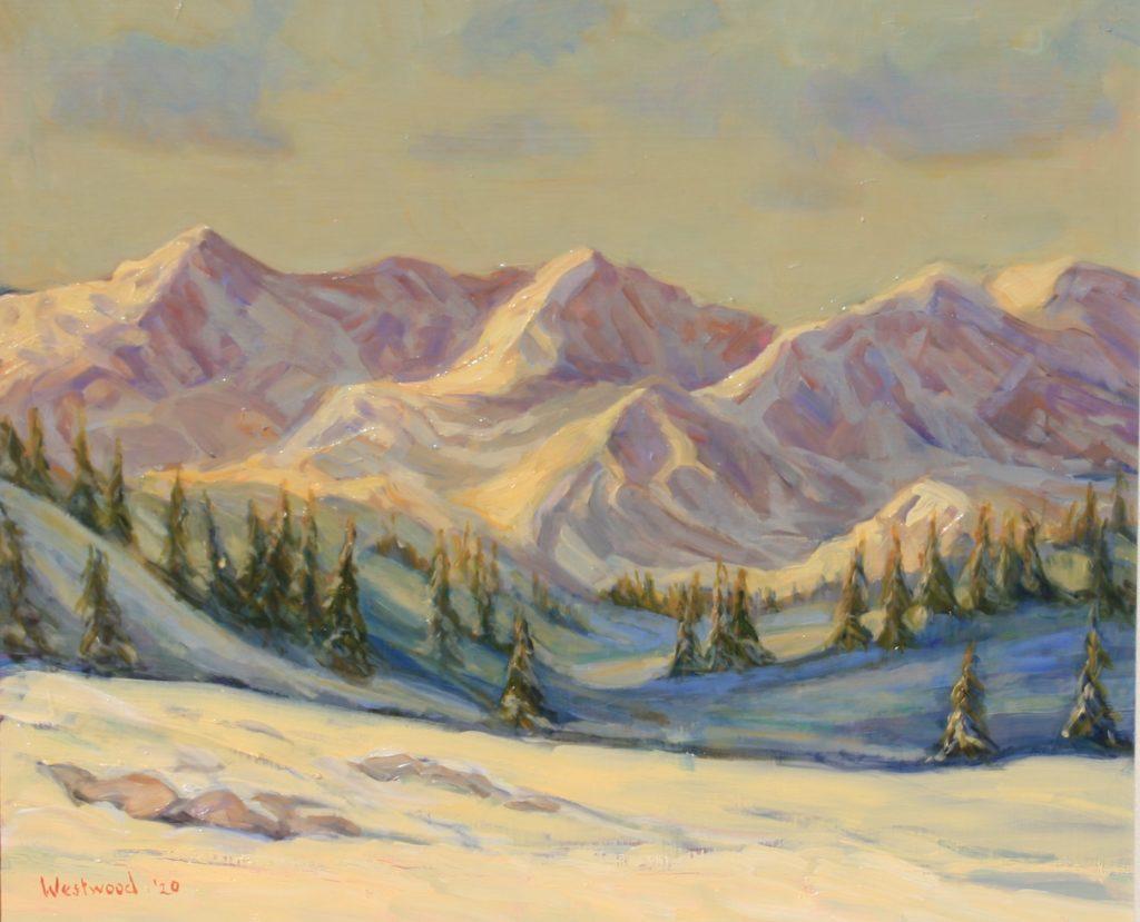 Colorado mountain snow landscape