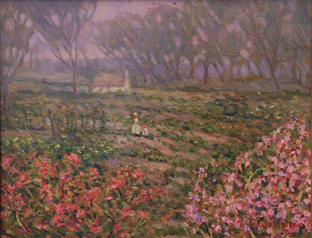 English landscape garden oil