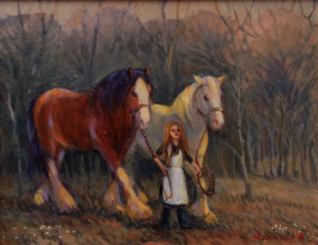 English oil horses farm